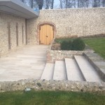 Flint wall restoration and new build in East Sussex